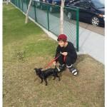Arrin Gates & dog
